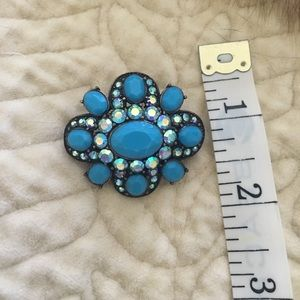 Ann Taylor Jewelry - AT Blue Stone Brooch